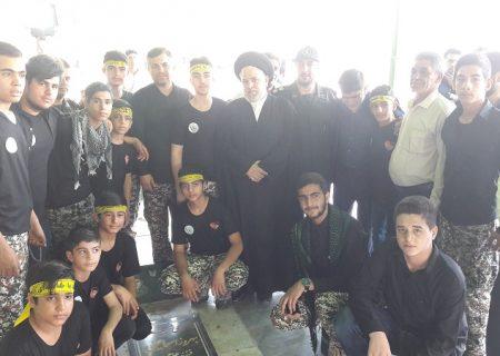 جدید میثاق با شهدا توسط امام جمعه اندیمشک و جوانان نغمه های عشق