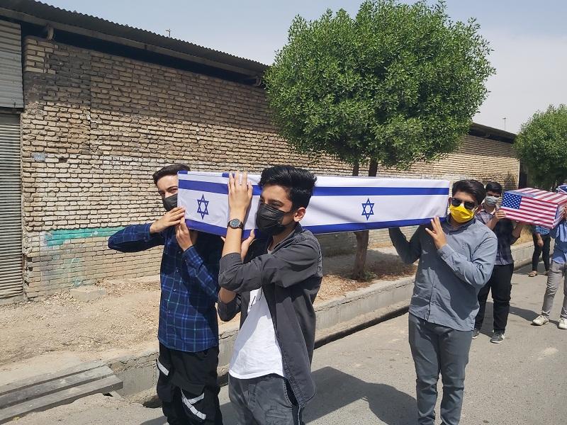 حرکت دردسر ساز گروه پسران بهشت اندیمشک در روز قدس