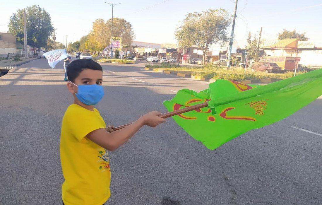 جشن خیابانی در اندیمشک / دهه مهدویت ۱۴۰۰